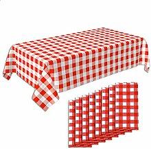 Crystal Lemon 8er Pack Picknick-Tischdecke, rot