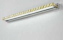 Crystal Luxus Mode Led Spiegel Licht Eitelkeit Spiegel Spiegel Bad WC Proof Edelstahl Wandleuchte ( Farbe : Weiß , größe : 6w40cm )