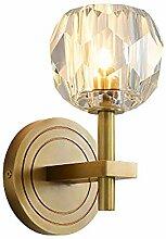 Crystal Wandlampe, Gold, Mit LED-Lichtquelle,