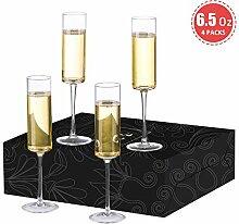 Crystalear Champagnerflöten, moderne und elegante