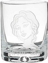 Crystaljulia 05919 Whiskyglas mit Zodiak Jungfrau
