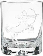 Crystaljulia 05920 Whiskyglas mit Zodiak Schütze