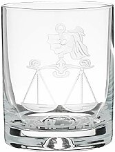 Crystaljulia 05924 Whiskyglas mit Zodiak Waage