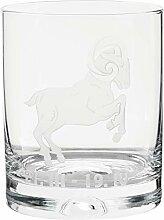 Crystaljulia 05928 Whiskyglas mit Zodiak Widder