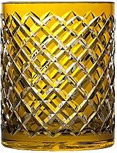 Crystaljulia 17133 Vase, Bleikristall, gelb