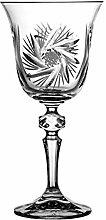 Crystaljulia 3572 Weinglas, Kristall, 170ml, 8.5 x 8.5 x 18 cm, 6 Einheiten