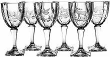 Crystaljulia 4099 Weinglas, Glas, 300 ml, 9 x 9 x 19 cm, 6 Einheiten