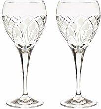 Crystallo Art Deco Hand Weinglas Cut Kristall