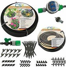 CS Mikro Bewässerung Set Blumentopf, Pflanzkübel, Balkon, Terrassen- und Urlaubsbewässerung10m Z2.14