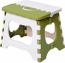 CS Mini Klapphocker Portable Picknick Klappstuhl Kleine Hocker mit Kunststoff Kleine Hocker Starke Tragfähigkeit (Size : M)