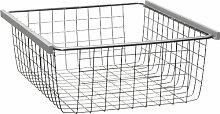 CS Schmalmöbel 9900/0082 Drahtkorb Softsmart für Schwebetürenschränke Typ 42 und 43, silber