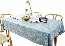 CSQ Kreative Tischdecke, Stoffkunst, reine Farbe,