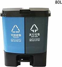 CSQ Outdoor Mülleimer, Hohe Kapazität Kunststoff