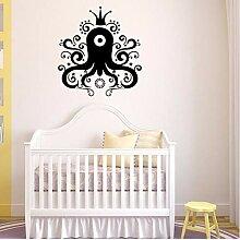 Csyxp Cartoon Crown Octopus Fisch Vinyl Wandtattoo