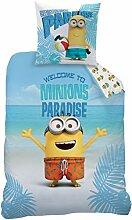 CTI Bettwäsche Die Minions Paradise Baumwolle