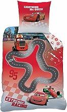 CTI Bettwäsche Disney Cars Circuit Baumwolle rot