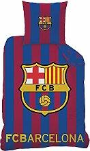 CTI Bettwäsche FC Barcelona Logo Baumwolle blau