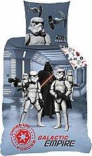 CTI Bettwäsche Star Wars Dark Side Baumwolle grau