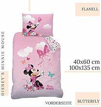 CTI Minnie Mouse Bettwäsche Flanell/Biber ☆