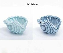CTOBB 2 Teile/Satz Nodic Stil Keramik Blau Orcean