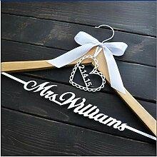 CTOBB Personalisierte Hochzeit Kleiderbügel Braut