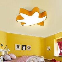 Cttsb Schlafzimmer Schlafzimmer Cartoon das Schlafzimmer der Raumbeleuchtung Kinder leuchten Kreative LED Deckenleuchte cartoon Schlafzimmer Kindergarten Spielplatz, leichtes Gehäuse, gelb, 56 cm 3-Color Ligh
