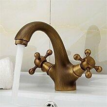 Cu alle Continental Wasserhahn WASCHTISCH MISCHER kaltes Wasser - Messing Sitzbank Waschbecken Mischbatterie,Antike Farbe