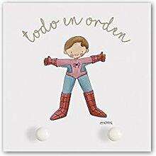 cuadriman Garderobe Spiderman klein, Holz,