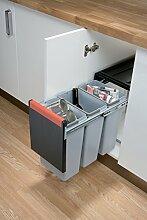 Cube 30 Ausziehbarer Abfallsammler 3x 10 Liter