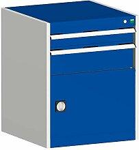 cubio Kombischrank hellgrau/blau 65 x 65 x 80 cm