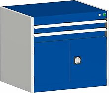 cubio Kombischrank hellgrau/blau 80 x 52,5 x 70 cm