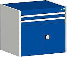 cubio Kombischrank hellgrau/blau 80x65x70 cm