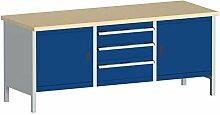 cubio Sitzbank MPX Küchentresen, Hellgrau/Blau, 2078–3