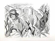 Cubist Landscape Radierung von André Lhote, 1946