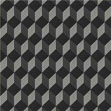Cubix Tapete Farbe: Schwarz