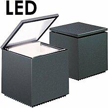 Cuboled LED Nachttischleuchte, anthrazit
