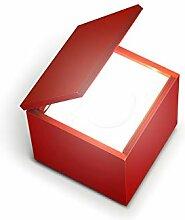 Cuboluce Nachttischleuchte 110V, rot LxBxH