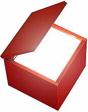 Cuboluce Wireless LED Akku Nachttischleuchte, rot