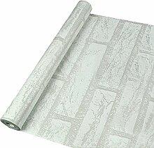 Cuby Fototapete 45x100 cm - Vlies Tapete - Moderne Wanddeko - Design Tapete - Wandtapete - Steintapete Steine Stein Mauer Steinoptik 3D (Weißer Ziegelstein)