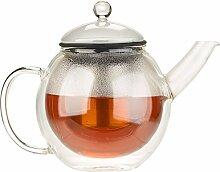 Cucina di Modena Glas Teekanne: Doppelwandige