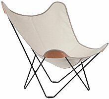 cuero Canvas Mariposa Butterfly Chair Outdoorsessel, natur Hemp Nature 42 Gestell schwarz