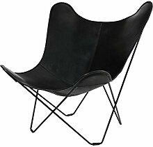 Cuero Leather Mariposa Butterfly Chair Sessel,