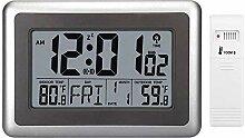 CUHAWUDBA Digitale Atom Wand Uhr, Schreibtisch