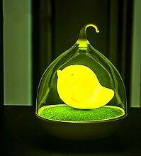 CUICAN Led Vogelkäfig Nachtlicht,Akku Touch