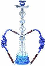 CUIJU Shisha-Set Großes Doppelrohr Shisha-Glas