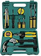 CUKKE 12 Sätze von Auto-Reparatur Autopflege Werkzeug-Set Kombination Steckschlüssel Set-Reparatur-Werkzeuge Haushalt Hardware-Tool