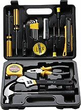 CUKKE 18 Sätze von Auto-Reparatur Autopflege Werkzeug-Set Kombination Steckschlüssel Set-Reparatur-Werkzeuge Haushalt Hardware-Tool