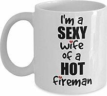 Cukudy Firefighter Wife Tasse Valentinstag lustige