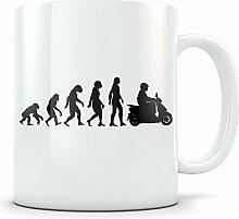 Cukudy Motorroller Tasse für Damen und Herren