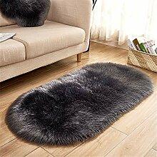 CULASIGN Teppich Wölkchen Lammfell-Teppich